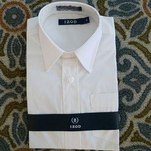 NWT IZOD Sz 6 White Cotton-poly blend Dress Shirt